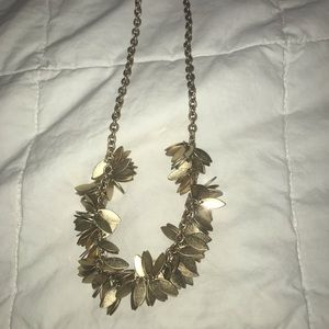 NWT J Crew Gold Plated Leafy Fall Necklace